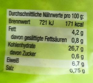 Schwäbische Eierspätzle - Nutrition facts - de