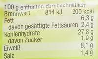 Maultaschen original schwäbisch - Nutrition facts