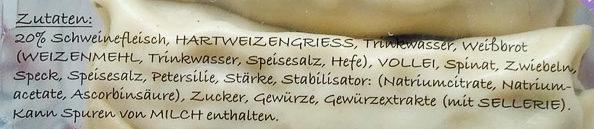 Maultaschen Unsere Besten - Ingredients - de