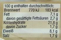 Maultaschen Unsere Besten - Nutrition facts - de