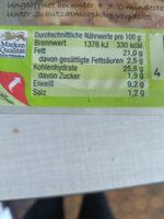 Flädle - Informations nutritionnelles - de