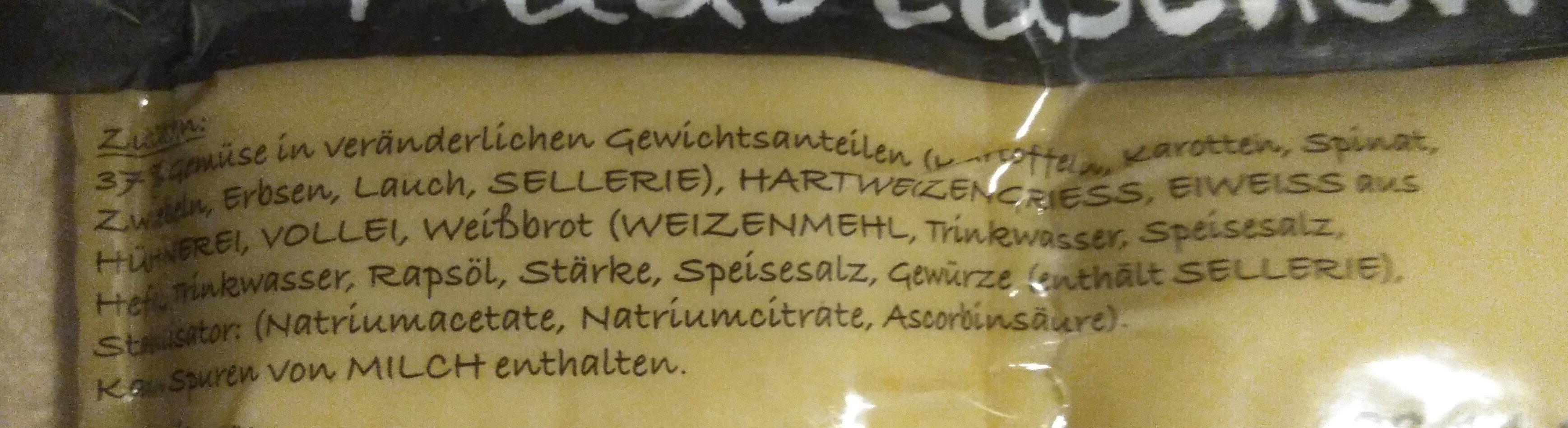 Gemüse Maultaschen - Ingredients - de