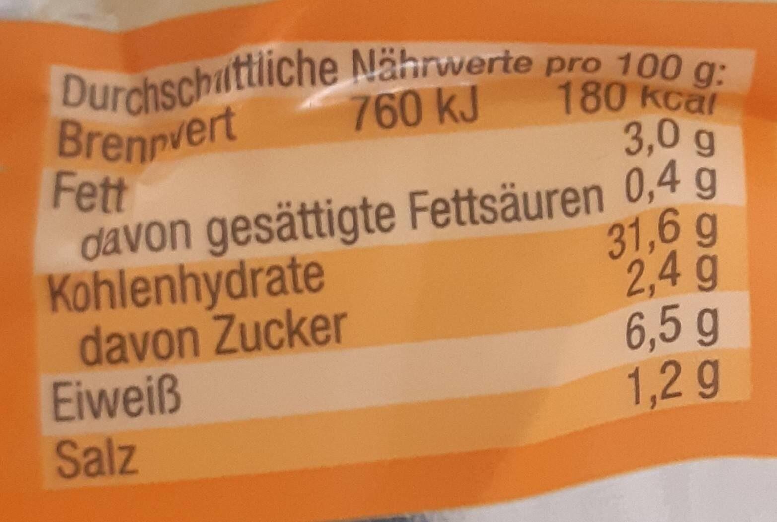 Gemüse Maultaschen - Valori nutrizionali - de