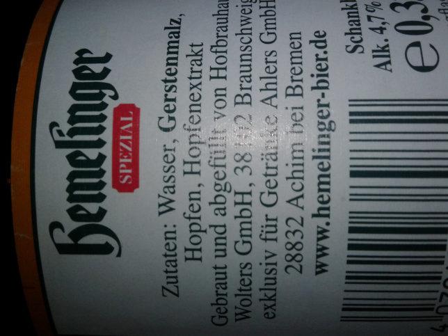 Hemelinger Spezial — 330 ml