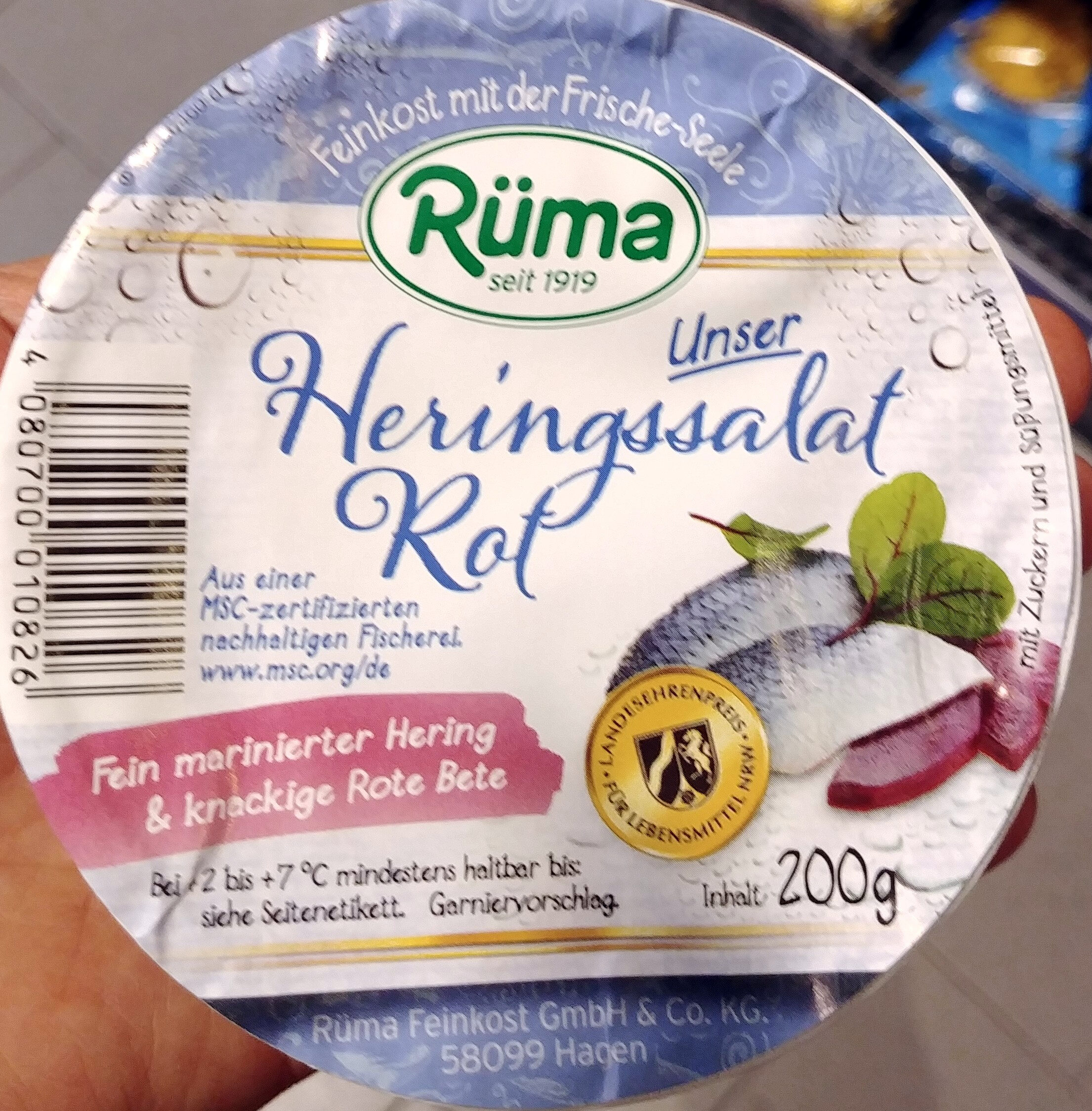 Heringssalat Rot mit Zuckern und Sussungsmittel - Product - de