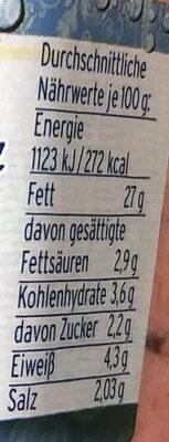 Heringssalat Rot mit Zuckern und Sussungsmittel - Nutrition facts - de