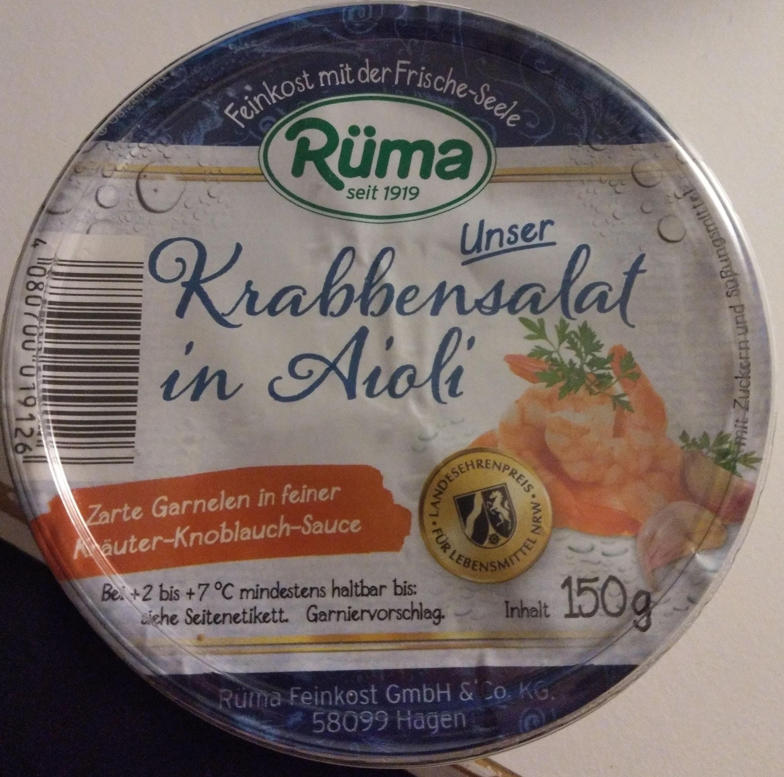 Unser Krabbensalat in Aioli - Produit