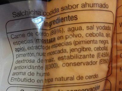 Bockwurst salchichas alemanas - Ingredientes