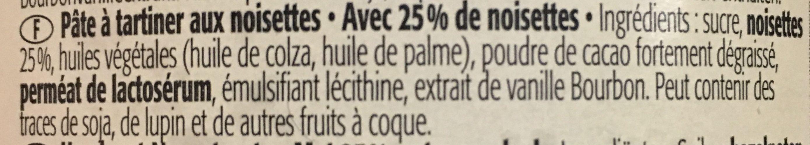 Pate à tartiner - Ingredientes - fr