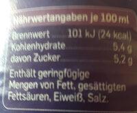 Apfel-Johannisbeer Mehrfruchtschorle - Nutrition facts
