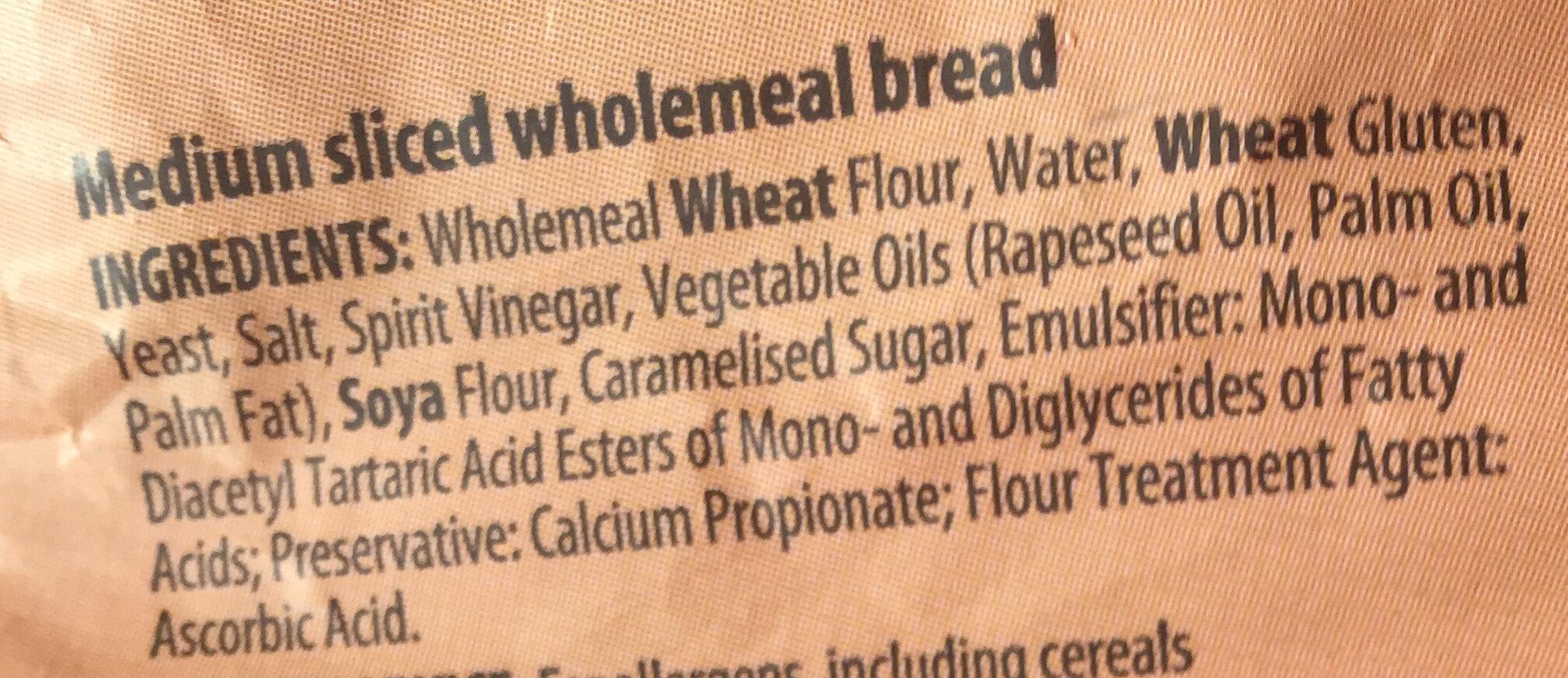 Wholemeal medium sliced - Ingredients - en