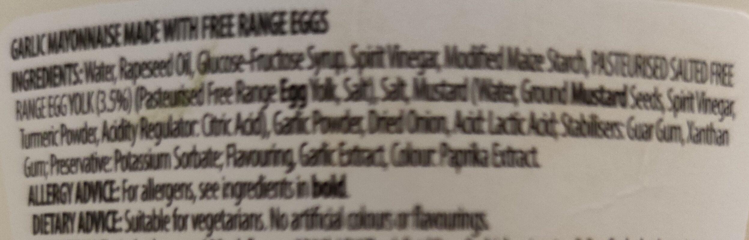 Garlic Mayonnaise - Ingredients - en