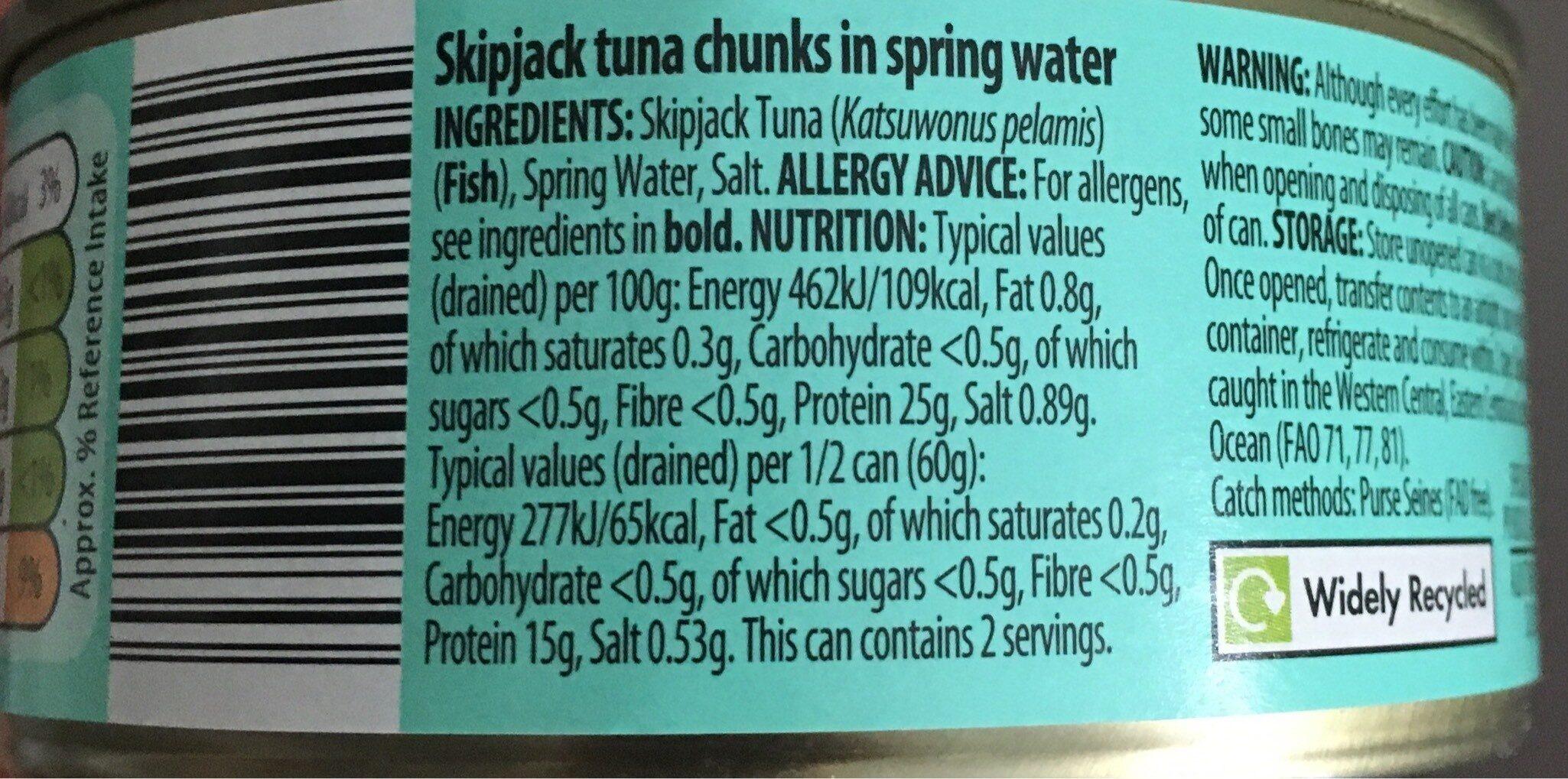 Tuna chunks - Nutrition facts