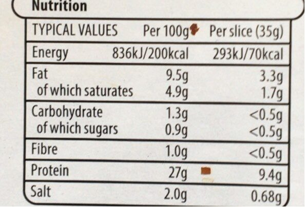 The Deli 5 Slices Corned Beef - Nutrition facts - en