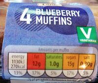 blueberry muffin - Nutrition facts - en