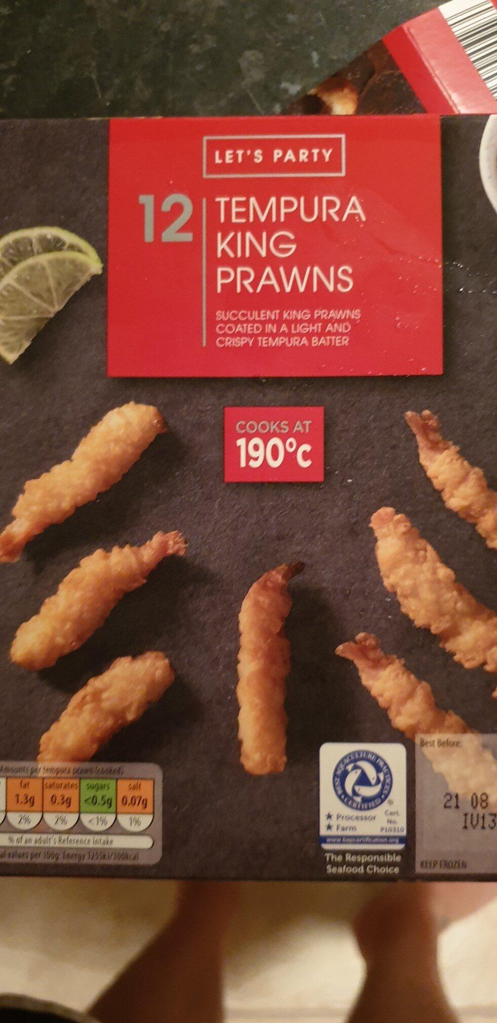 tempura king prawns - Product