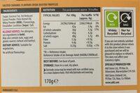 Salted caramel truffles - Informations nutritionnelles - en