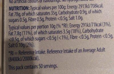 Nordpak Slightly salted butter - Nutrition facts - en
