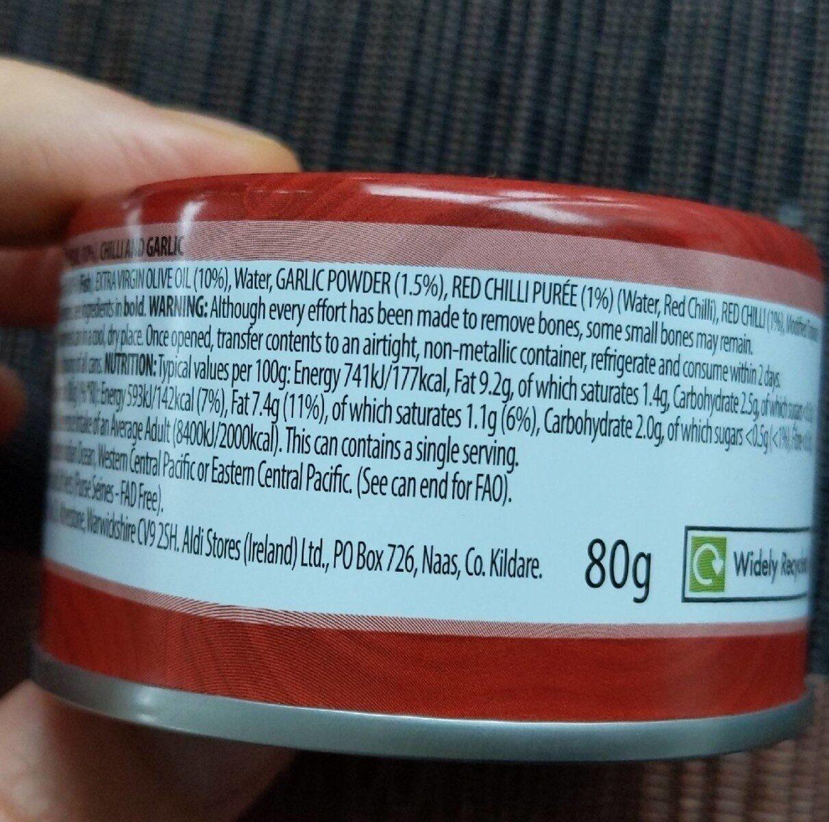 Fusions Tuna Chilli & Garlic - Informations nutritionnelles - en