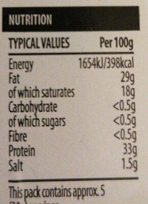 Grana padano - Nutrition facts - en
