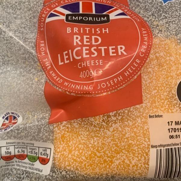 British Red Leicester cheese - Produit - en