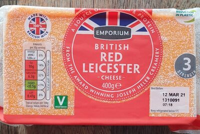British Red Leicester cheese - Produit