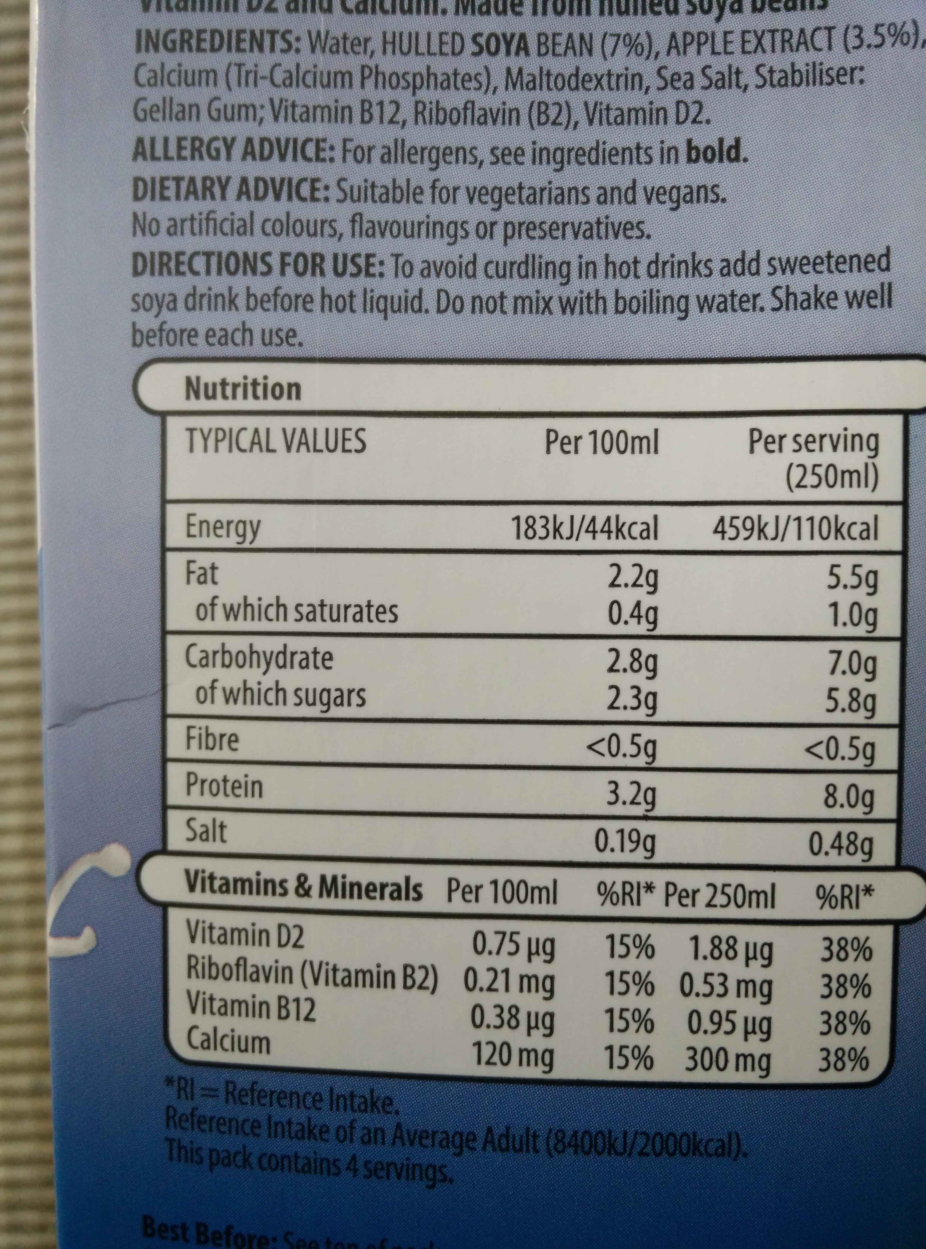 Soya original - Ingredients - en