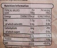 Organic Porridge oats - Nutrition facts - en