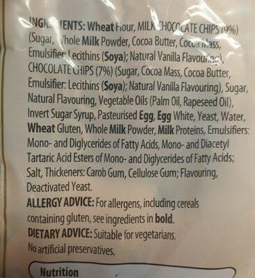 Chocolate Chips Brioche Rolls - Ingredients - en