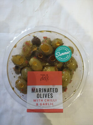 Marinated olives with chilli & garlic - Product