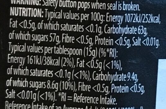 Classic Strawberry - Nutrition facts