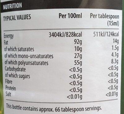 Solesta sunflower oil - Nutrition facts - en