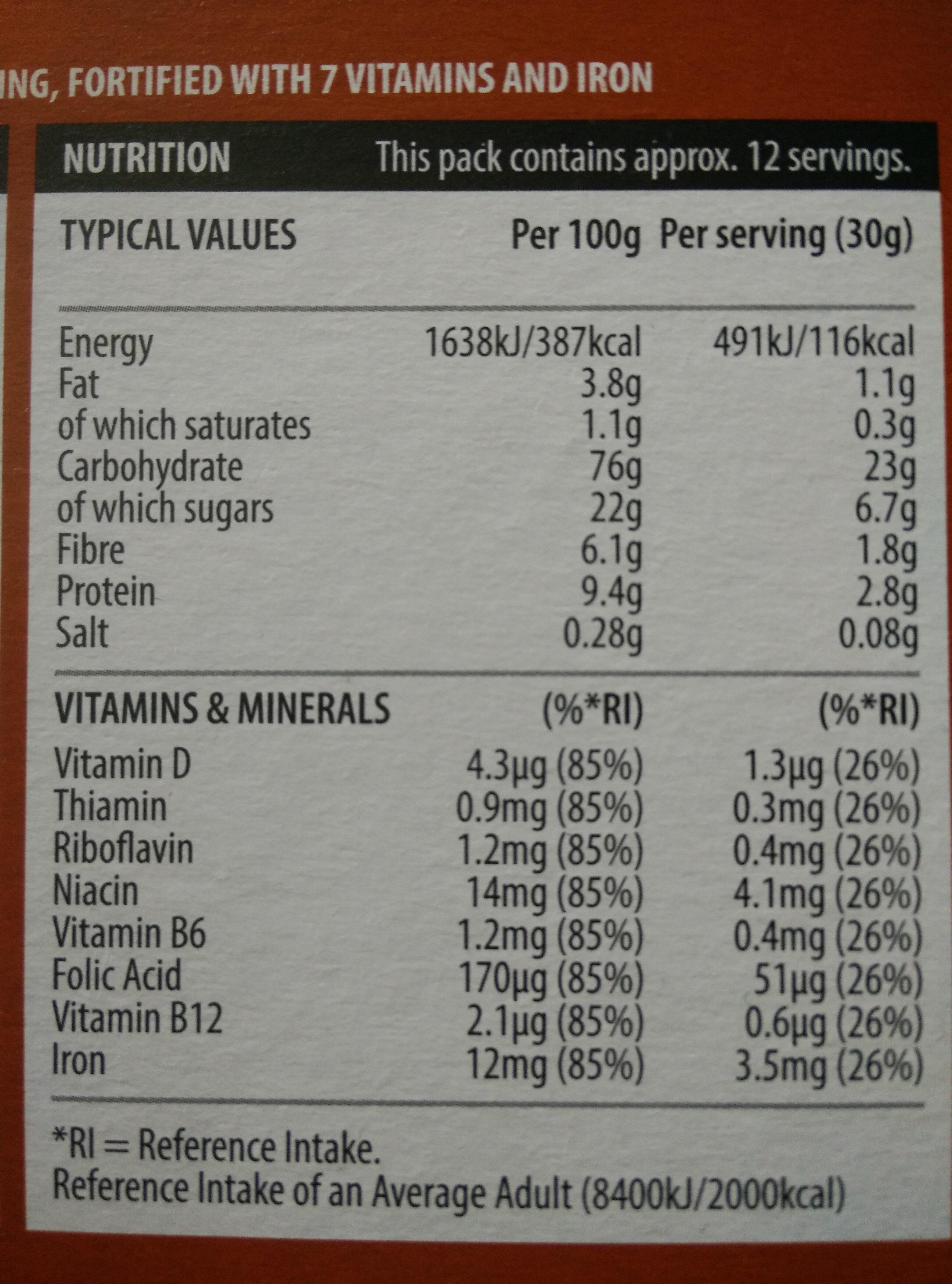 Choco Hoops - Voedingswaarden