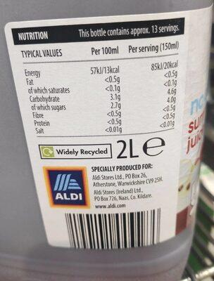 The juice - Informations nutritionnelles - en