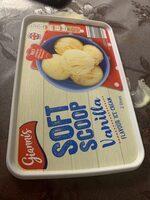 Vanilla flavour soft scoop ice cream - Produit