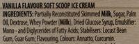 Vanilla flavour soft scoop ice cream - Ingrédients