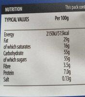 Fruit&nut chcolate - Informations nutritionnelles - en