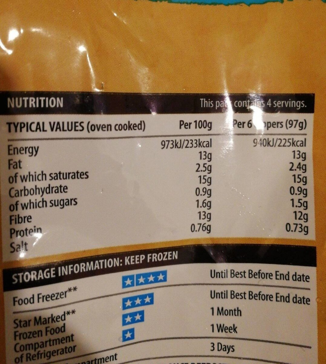 Chicken dippers - Nutrition facts - es