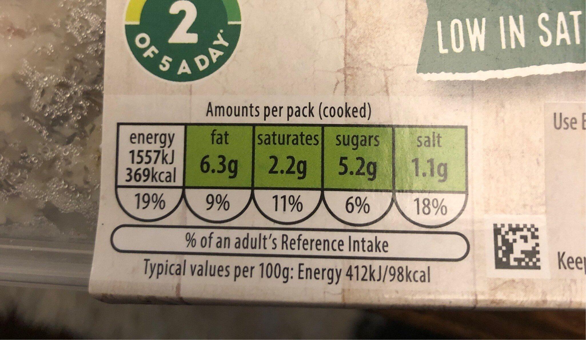 Beef & 3 bean chilli - Informations nutritionnelles - en