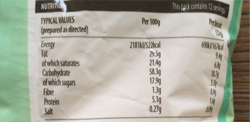 Shortbread mix - Nutrition facts - en