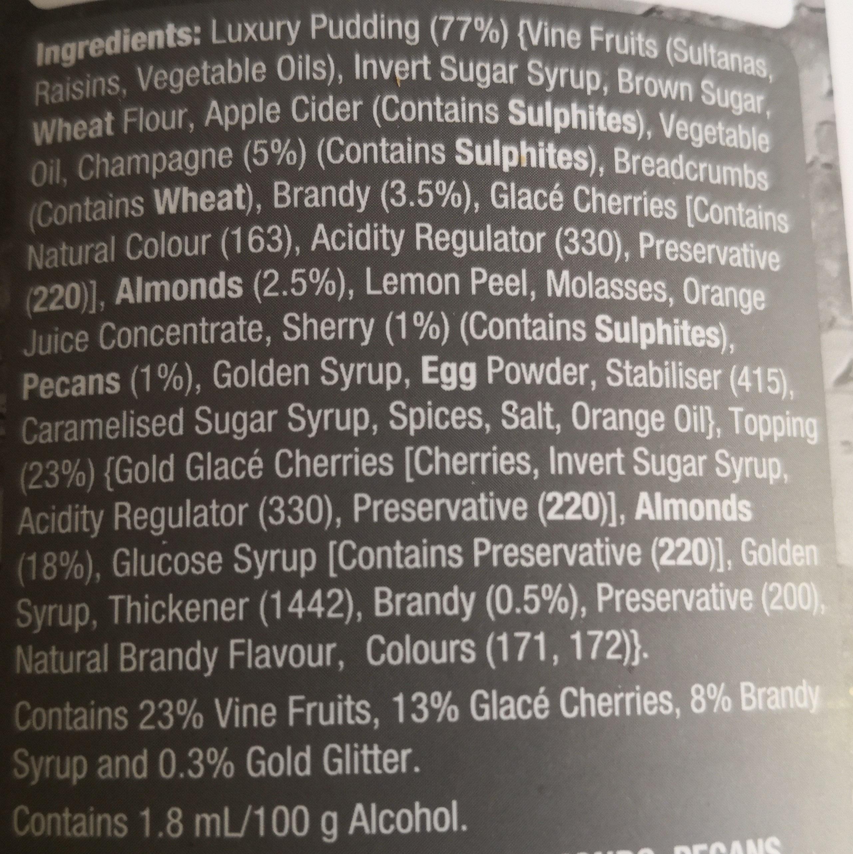 Luxury Golden Champagne Pudding - Ingredients - en