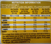 Gluten Free Macaroni & Cheese - Nutrition facts