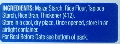 Gluten Free Plain Flour - Ingredients