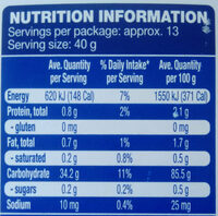 Gluten Free Plain Flour - Nutrition facts