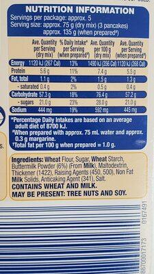 buttermilk pancake mix - Ingredients - en