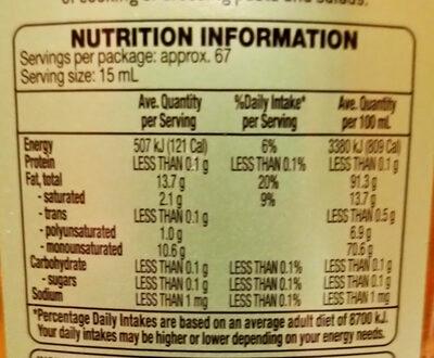 Mild Olive Oil - Nutrition facts - en