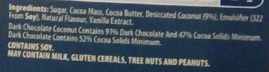Special Edition coconut chocolate - Ingredients - en