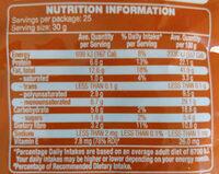 Australian Natural Almond - Informations nutritionnelles - en