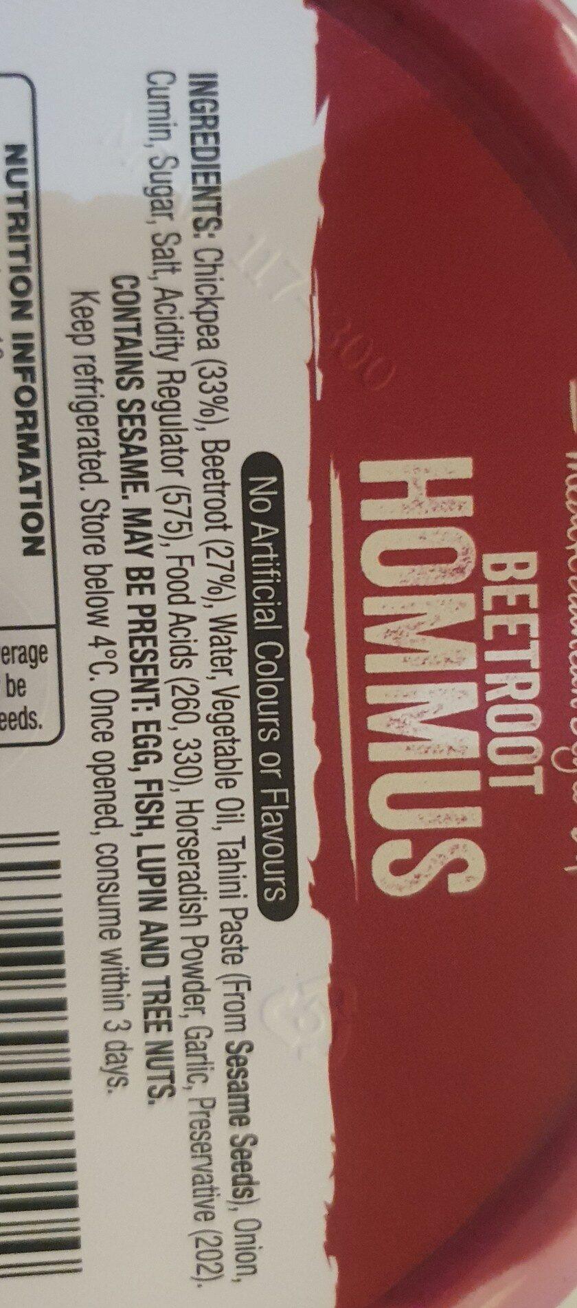 Beetroot hommus - Ingredients - en