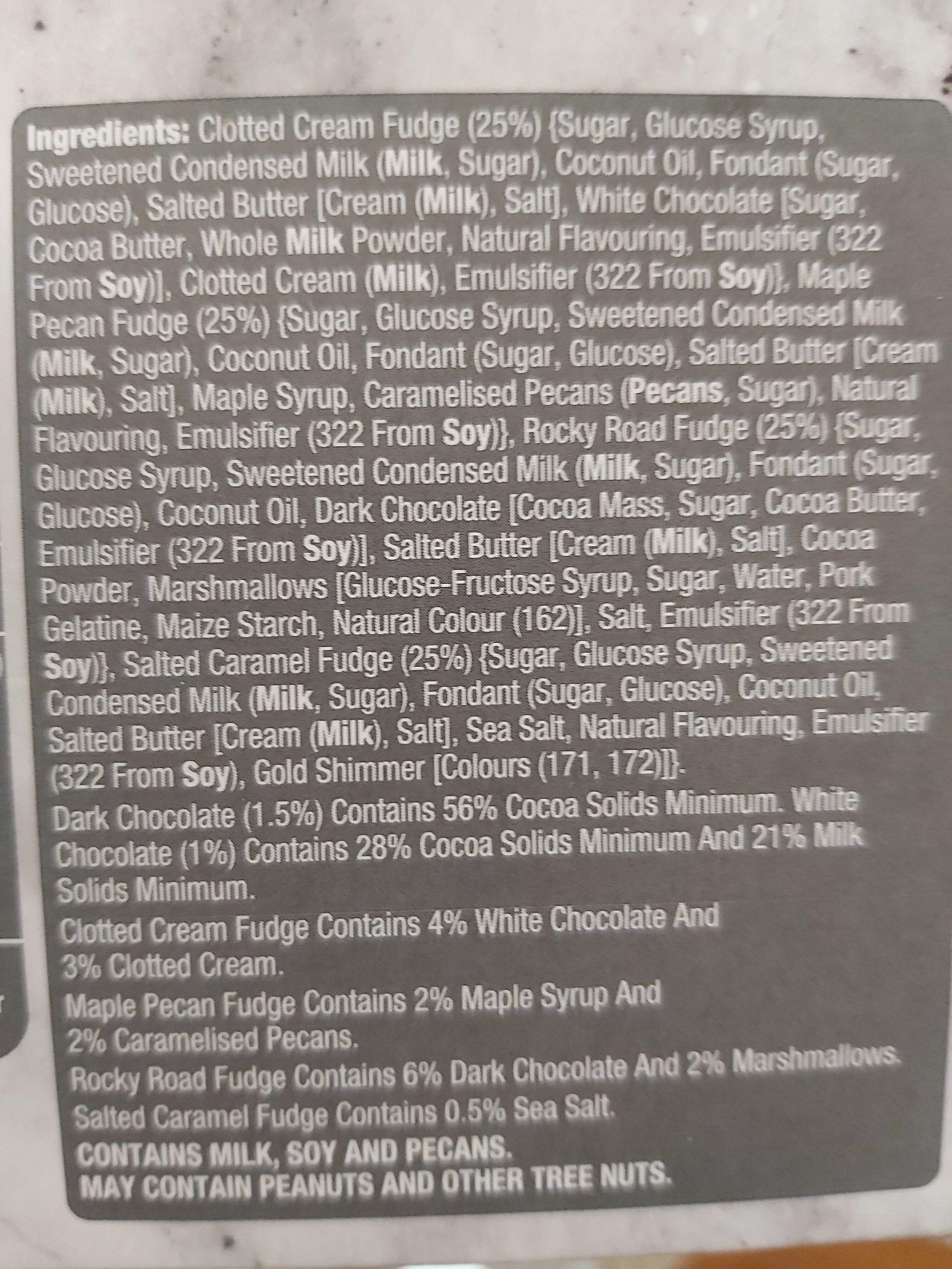 slice and share luxury fudge - Ingredients - en